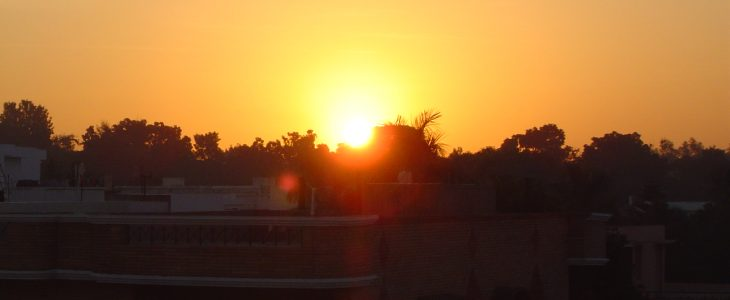 india-chandigarh-house-sunset
