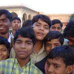 india-agra-red-fort-kids