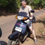 india-goa-driving-a-scooter