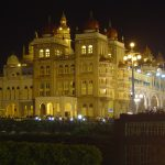 india-mysore-palace-side-night